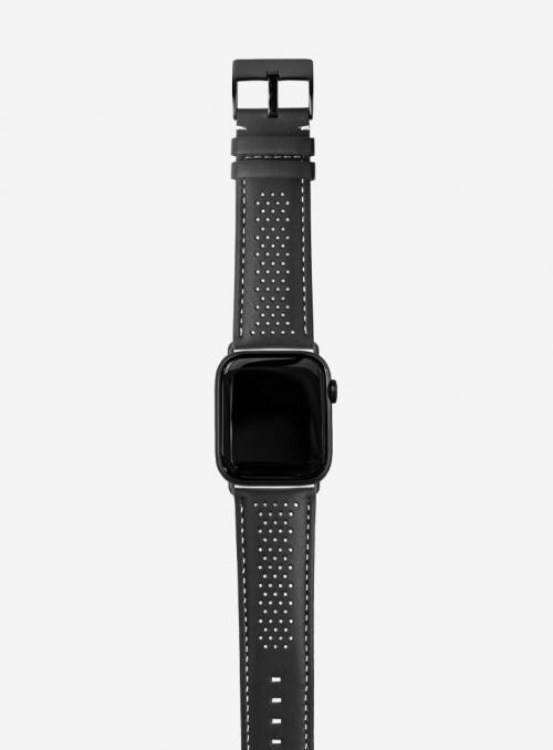 Diablo • Cinturino Apple Watch in cuoio cosmos e Lorica® waterproof • Pelle Italiana