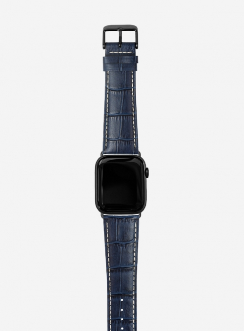 Tropical • Cinturino Apple Watch in vitello stampa tropical opaco • Pelle Italiana