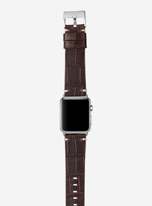 Antiquo • Alligator grained calf leather watchstrap for Apple Watch • Italian leather