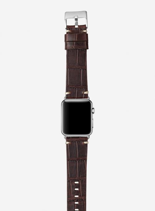 Antiquo • Cinturino Apple Watch in vitello stampa alligatore • Pelle Italiana