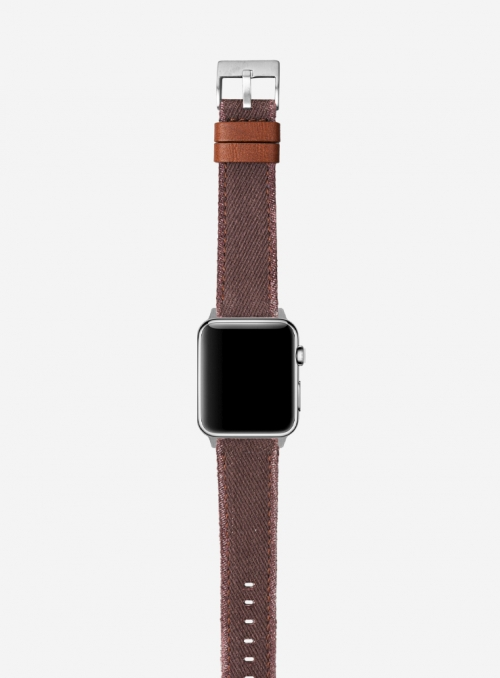 Denim • Jeans and appleskin watchband for Apple Watch • Vegan Friendly