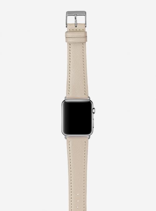 Saffiano • Cinturino Apple Watch in vitello stampa saffiano • Pelle italiana