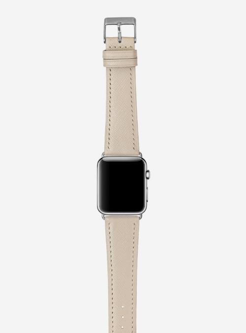 Saffiano • Genuine Saffiano calf leather watchstrap for Apple Watch • Italian Leather