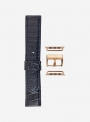 Mississippi Blues • Genuine alligator watchstrap for Apple Watch • Made in Italy