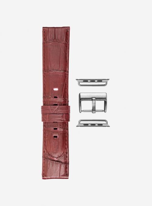 Mississippi Reds • Cinturino Apple Watch in vero alligatore • Made in Italy