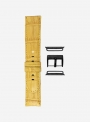 Mississippi Reds • Genuine alligator watchstrap for Apple Watch • Made in Italy