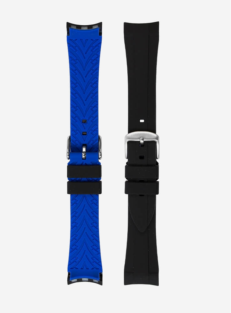 WATCHSTRAP COMPATIBLE ALSO FOR ROLEX GMT/OYSTER • ELITE SILICONE • 942