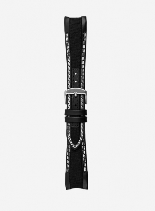 Watchstrap suitable also with Rolex GMT/OYSTER • Leather/cordura • 943