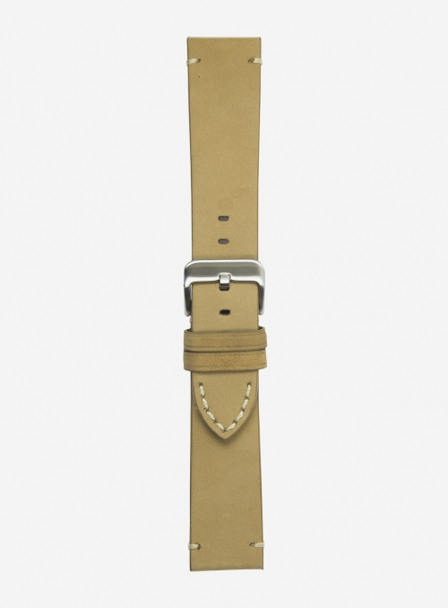 Suede leather watchstrap • Italian leather • 676