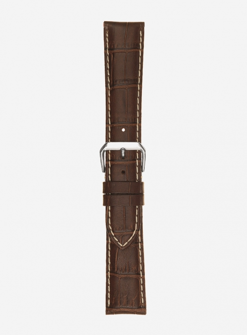 Matt tropical calf leather watchstrap • Italian leather • 438