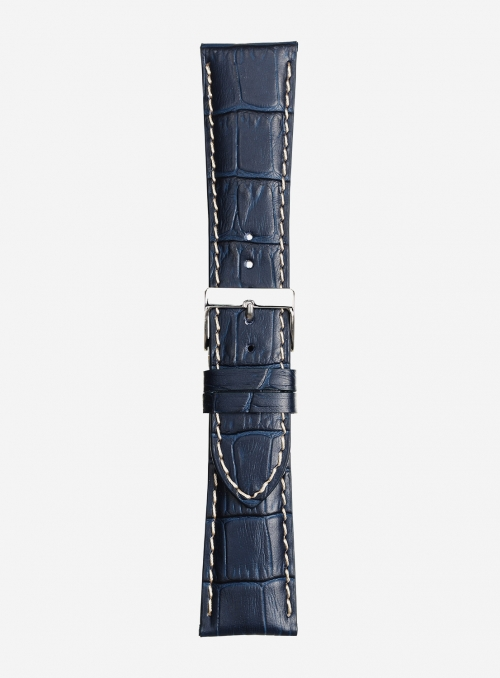 Matt tropical calf leather watchstrap • Italian leather • 438S