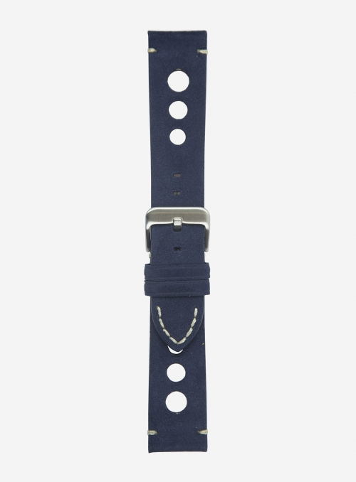 Suede leather watchstrap • Italian leather • 676F