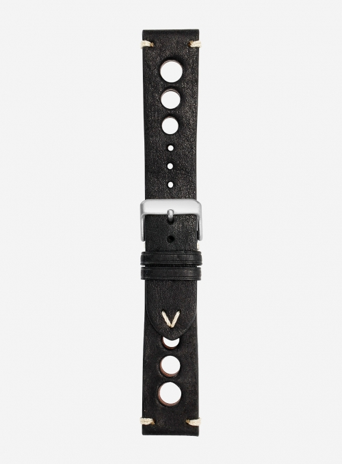 Vintage leather watchstrap • Italian leather • 675F