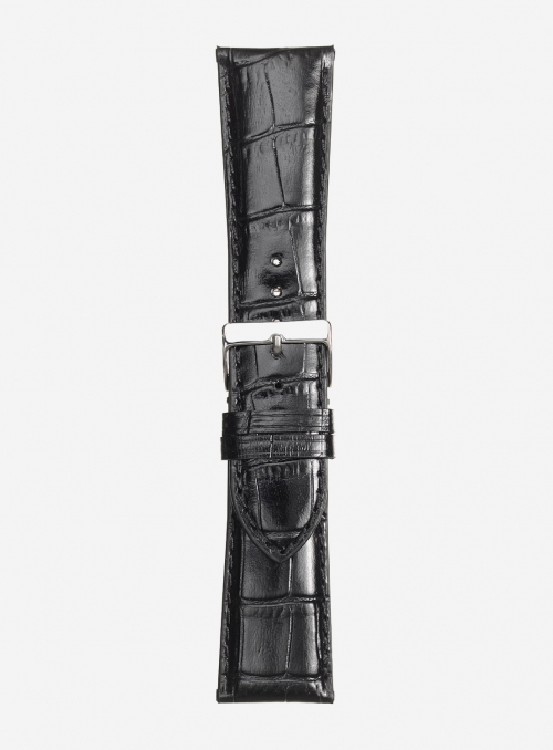 Glossy antigua calf leather watchstrap • Italian leather • 454S