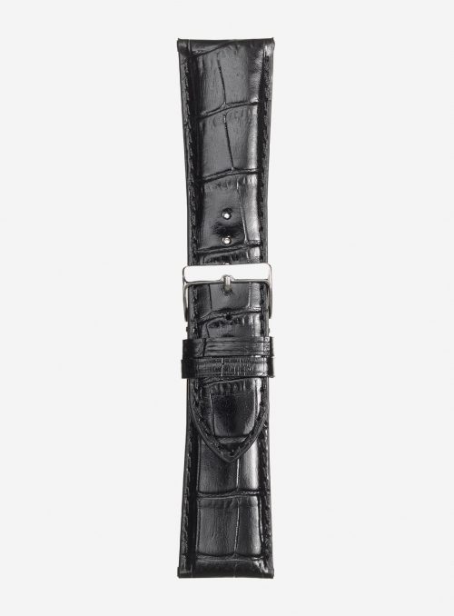 Glossy antigua calf leather watchstrap • Italian leather • 454SP