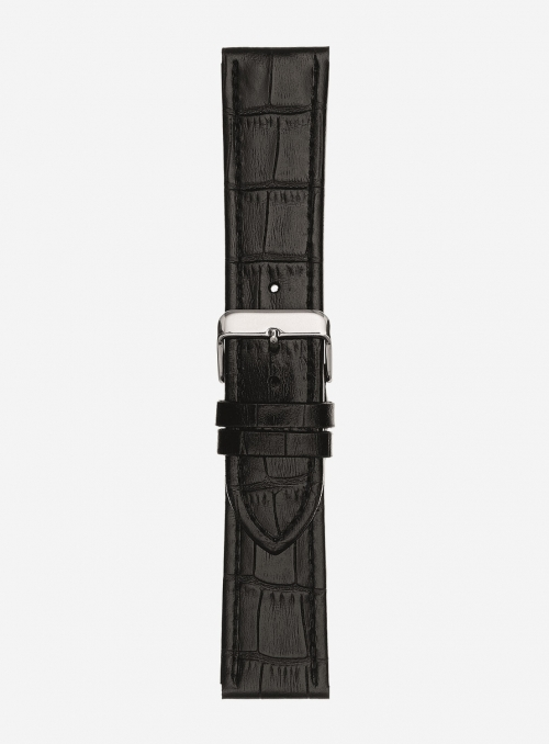 Glossy antigua calf leather watchstrap • Italian leather • 643