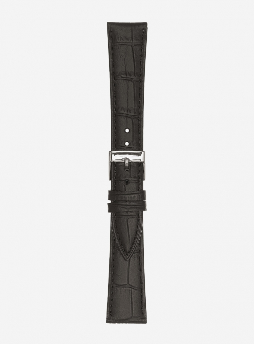 Matt guinea calf leather watchstrap • Italian leather • 497
