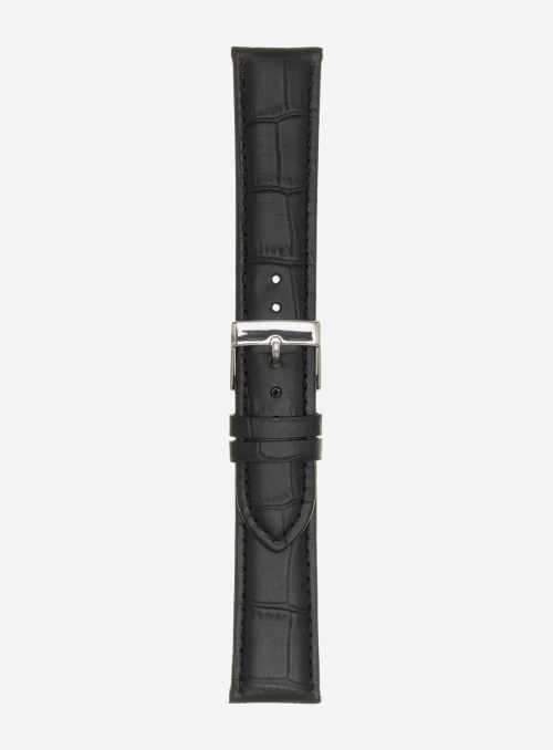 Matt guinea calf leather watchstrap • Italian leather • 469