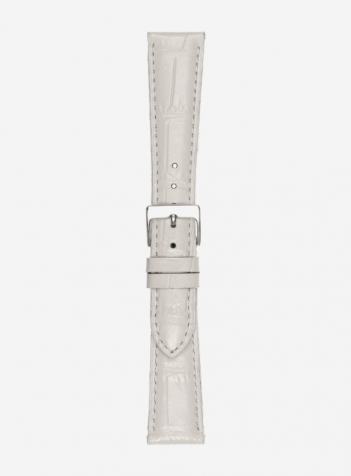 Extra-long odessa glossy antigua calf leather watchstrap • Italian leather • 454SL