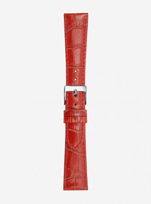 Cinturino in vitello stampa antigua lucido super lungo • Pelle italiana • 454LSL
