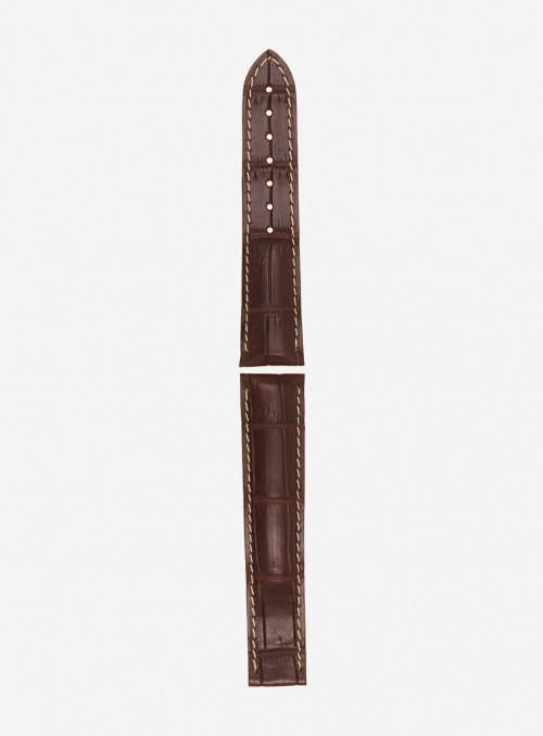 Genuine matt alligator watchstrap • 722A